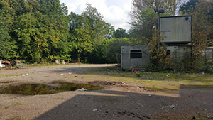 Bramley-park-derelict-area-with-portacabins